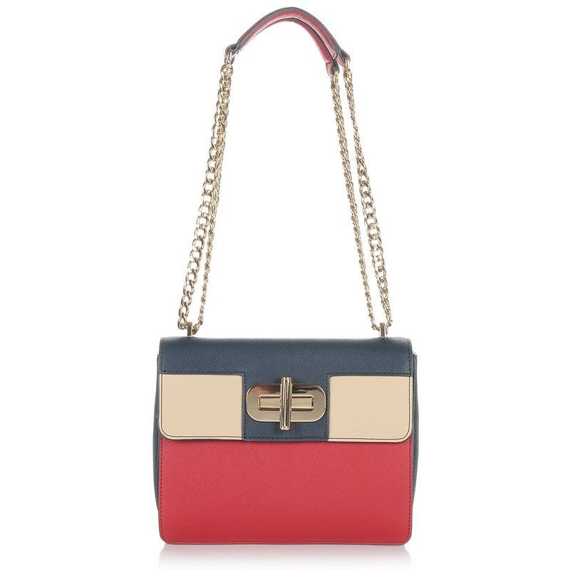 Τσαντάκι Ώμου - Χιαστί Tommy Hilfiger Turn Lock Crossover Colourblock 597d83699ae