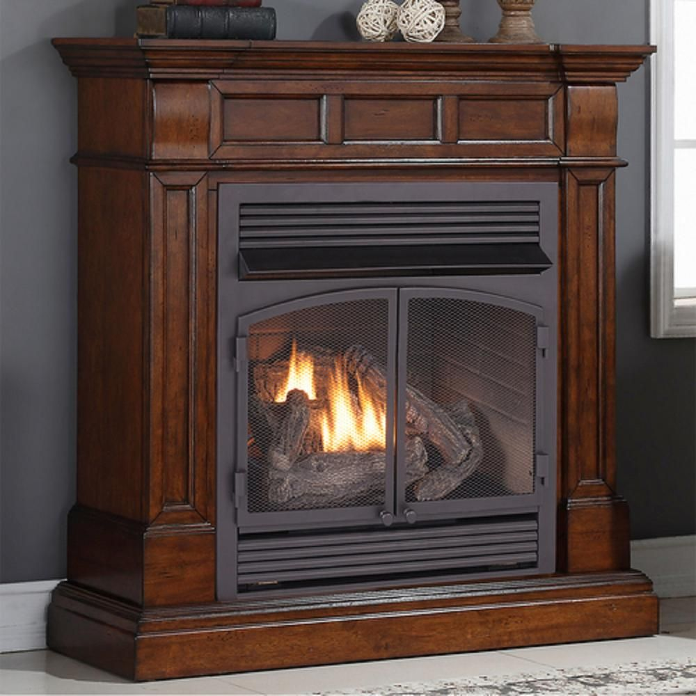 Duluth Forge 44 In Dual Fuel Ventless Gas Fireplace 32 000 Btu
