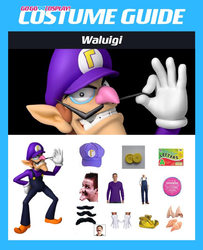 Waluigi Costume Guide Diy Cosplay Halloween Ideas Hat Outfit Mario Halloween Costumes Cosplay Diy Cosplay