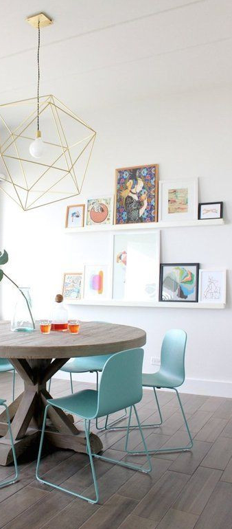 136fc02828e3 ... plenty of color to go along with those turquoise chairs.  ------------------  gallery  wall  diy  tips  ideas  picture  frames   decorations  interiors
