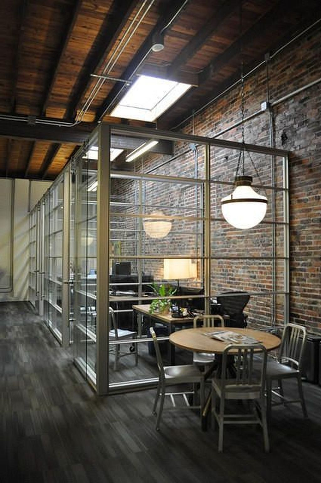 40 Elegant Open Ceiling Office Design Ideas Industrial