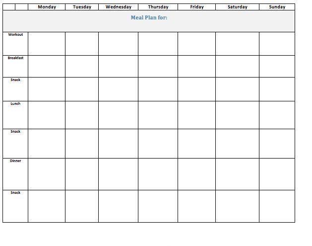 editable weekly meal planner template