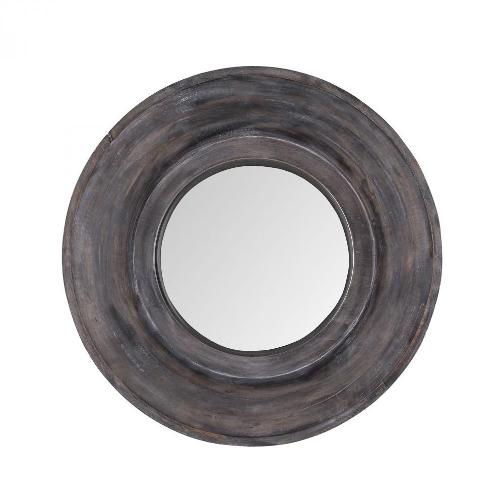 Porthole Mirror In Dark Grey Stain : 73R1P | The Lighting Gallery