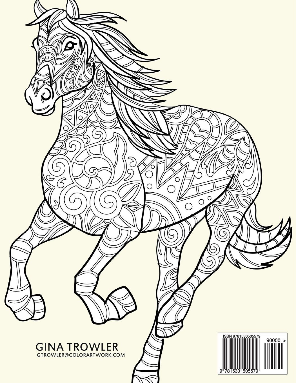 Amazon.com: Horse Coloring Book: Coloring Stress Relief ...