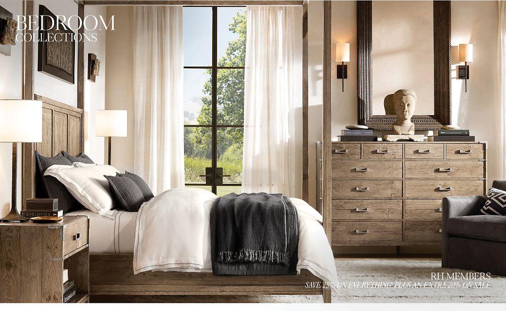 Bedroom Collections Rh In 2020 Restoration Hardware Bedroom Bedroom Furniture Sets Bedroom Sets