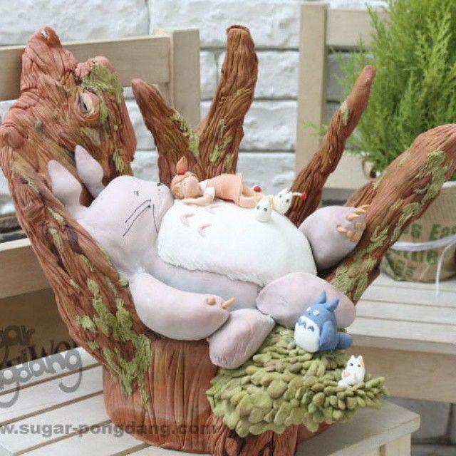 #totoro #토토로#이웃집토토로#fondant #topper #sugarcake #sugarcraft #sugarart #cake#totorocake#모형케이크#modelcake