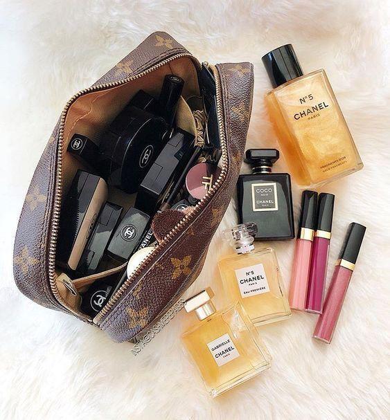 Pin By Taylor Gappa On Beauty Chanel Makeup Makeup Bag Cosmetic Bag