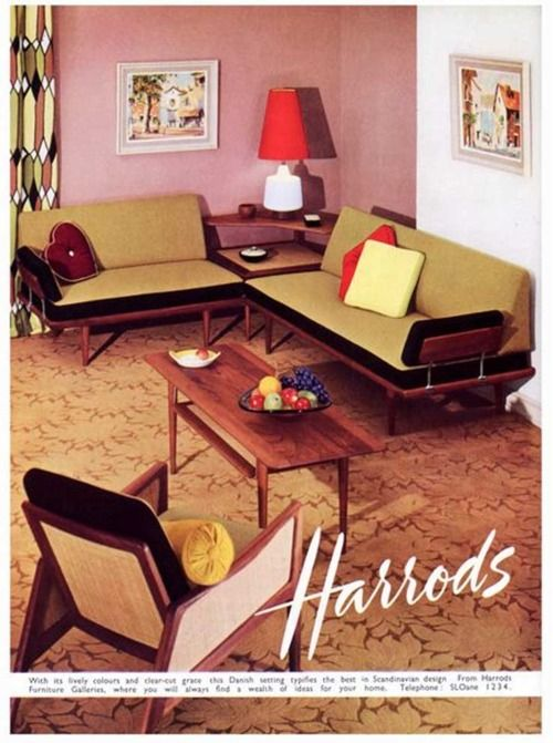 . tumblr   Mid Century Favorites   Retro furniture  Vintage interior