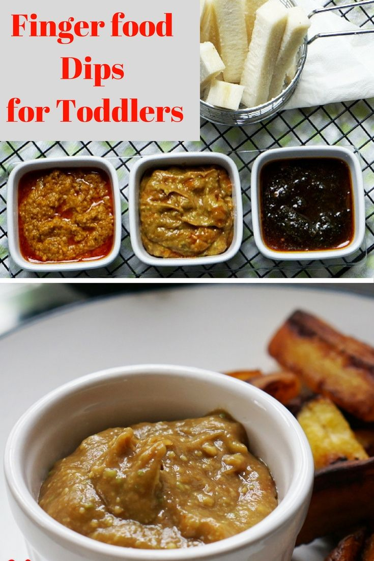 3dip recipes for finger foods suitable for toddlers