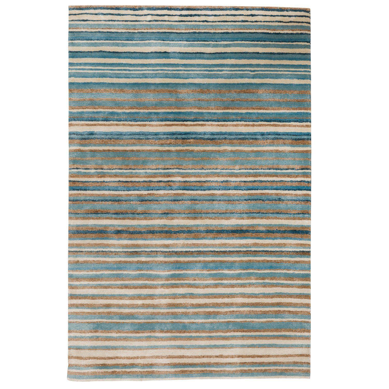Stripe Rug  Wool Jute Bamboo  130X190Cm  Nautical
