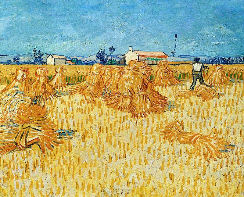 Ernte in der Provénce - Vincent van Gogh  ✏✏✏✏✏✏✏✏✏✏✏✏✏✏✏✏  ARTS ET PEINTURES - ARTS AND PAINTINGS  ☞ https://fr.pinterest.com/JeanfbJf/pin-peintres-painters-index/ ══════════════════════  Gᴀʙʏ﹣Fᴇ́ᴇʀɪᴇ ﹕☞ http://www.alittlemarket.com/boutique/gaby_feerie-132444.html ✏✏✏✏✏✏✏✏✏✏✏✏✏✏✏✏