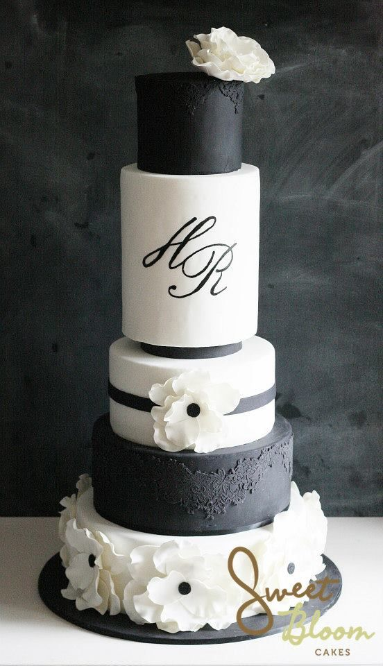 Hochzeitstorte farbe schwarz wei wedding cakes for Weisse kuchen bilder