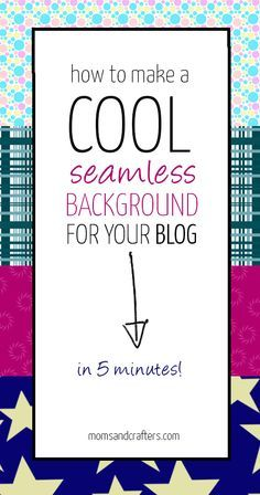 Every blogger should know how to do this!! Learn How to make a blog background using a small image that tiles seamlessly so that it looks really cool and professional! It's so simple and really takes only a few minutes to put together.
