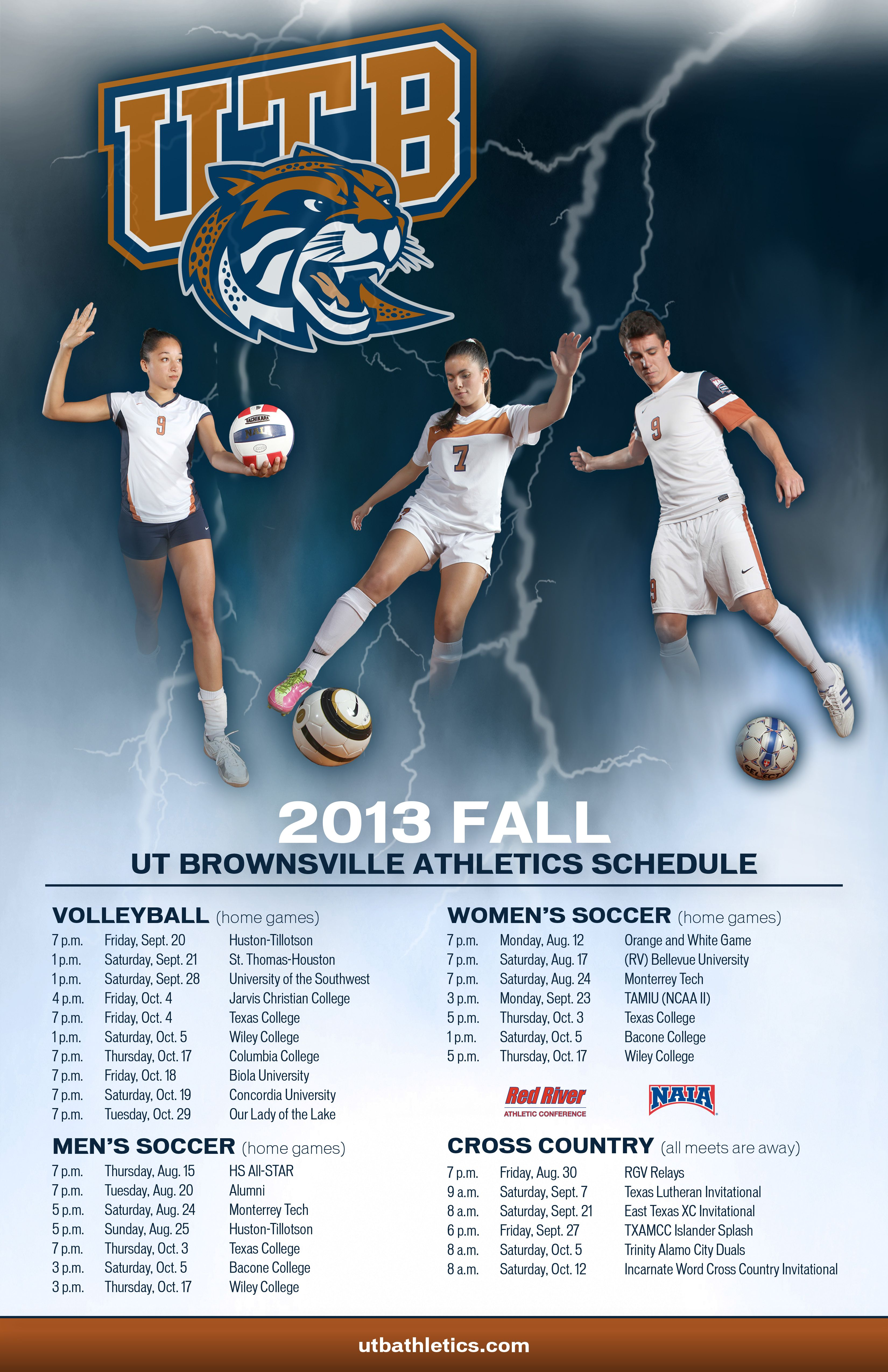 2013 Fall Home Schedule The University Of Texas At Brownsville Athletics School Movie Posters University