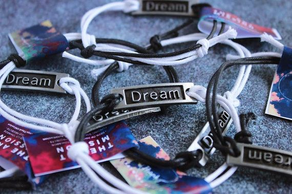 DREAM Freedom Connector Bracelet Charm by TheArtMission on Etsy