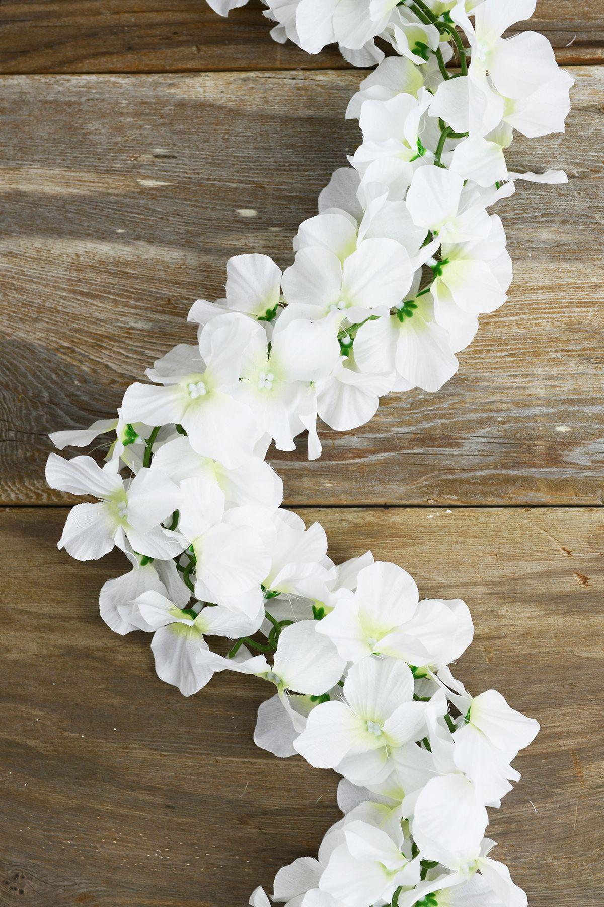White Silk Hydrangea Chained Garland Diy wedding bouquet