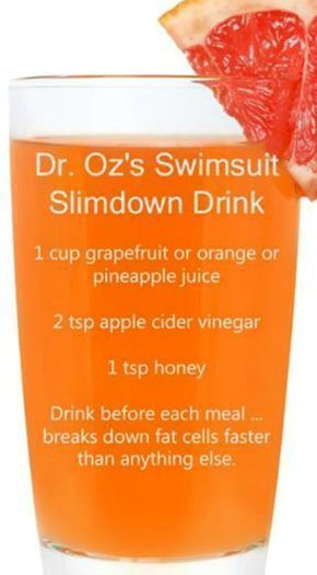 Dr. Oz's Swimsuit Slimdown Drink Recipe #CleansingDiet,