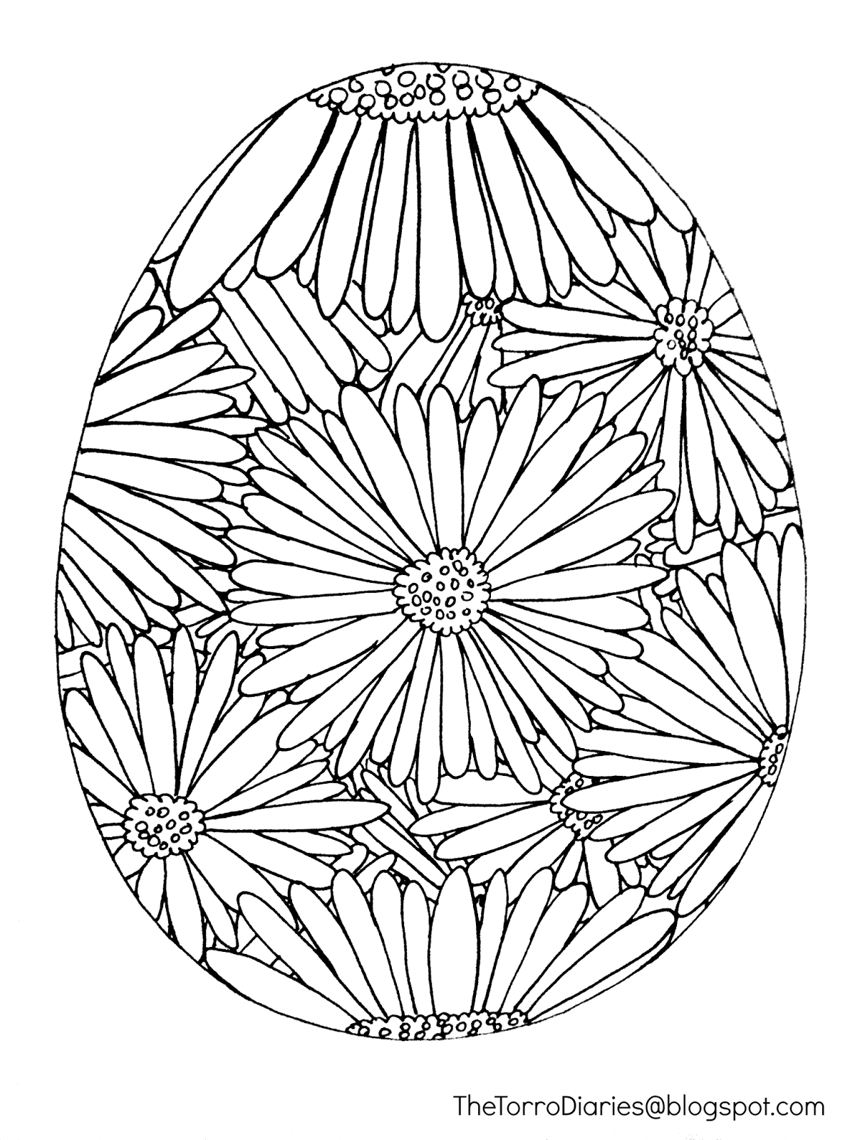 Free Easter Egg Printable Coloring Page