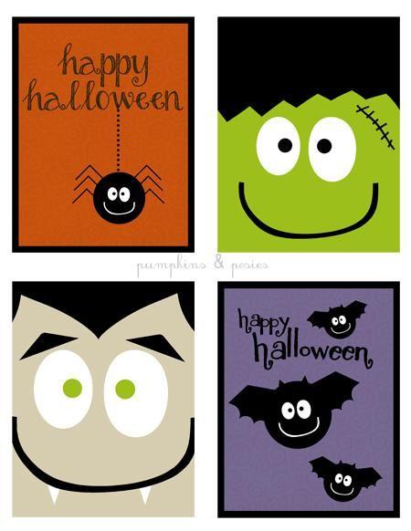 free printable halloween cards for kids 1 Free Printable Halloween ...