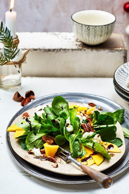 Mango-Mozzarella auf Feldsalat Rezept | LECKER