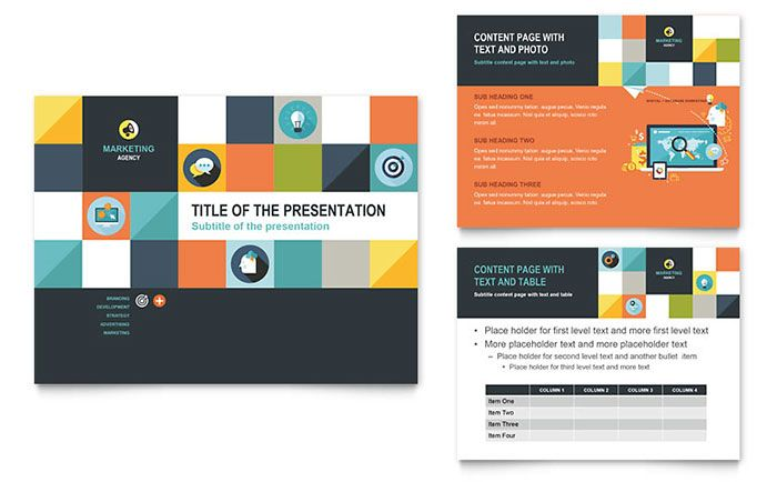 Advertising Company PowerPoint Presentation Template Design by - powerpoint brochure template