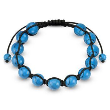 Spikes Turquoise Beaded 10mm Shamballa Bracelet | Body Candy Body Jewelry