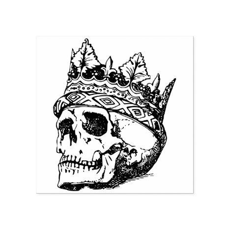 Crowned skull king rubber stamp | Zazzle.com