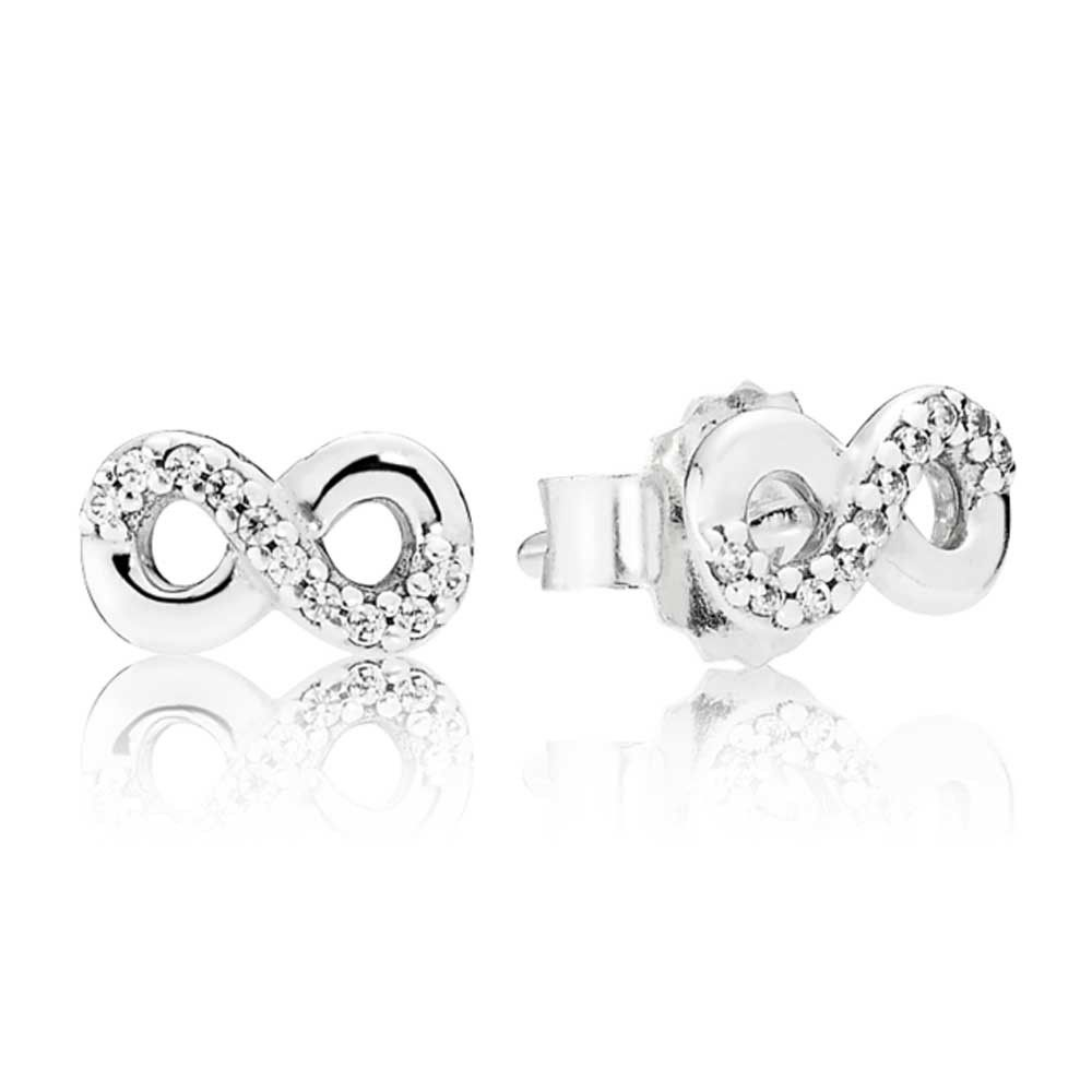 c3cce7381 Pandora Silver Infinity Love Earrings 290695CZ in 2019 | sassy ...