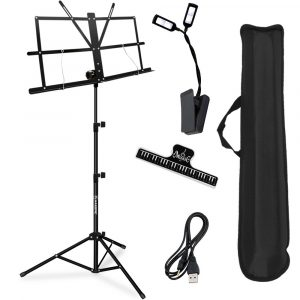 Portable Foldable Lightweight Music Stand Holder White