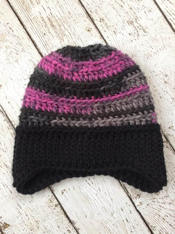 36a5f337de0 Chunky Earflap Beanie (READY TO SHIP) Adult size in 2019