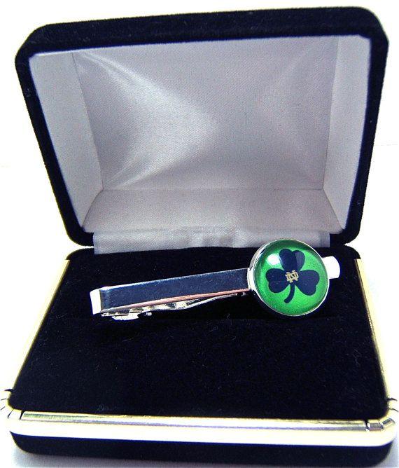 a306db2fa28a Tie Clip Tie Bar Notre Dame Shamrock Logo In by CynthiaCoolBeans, $19.95