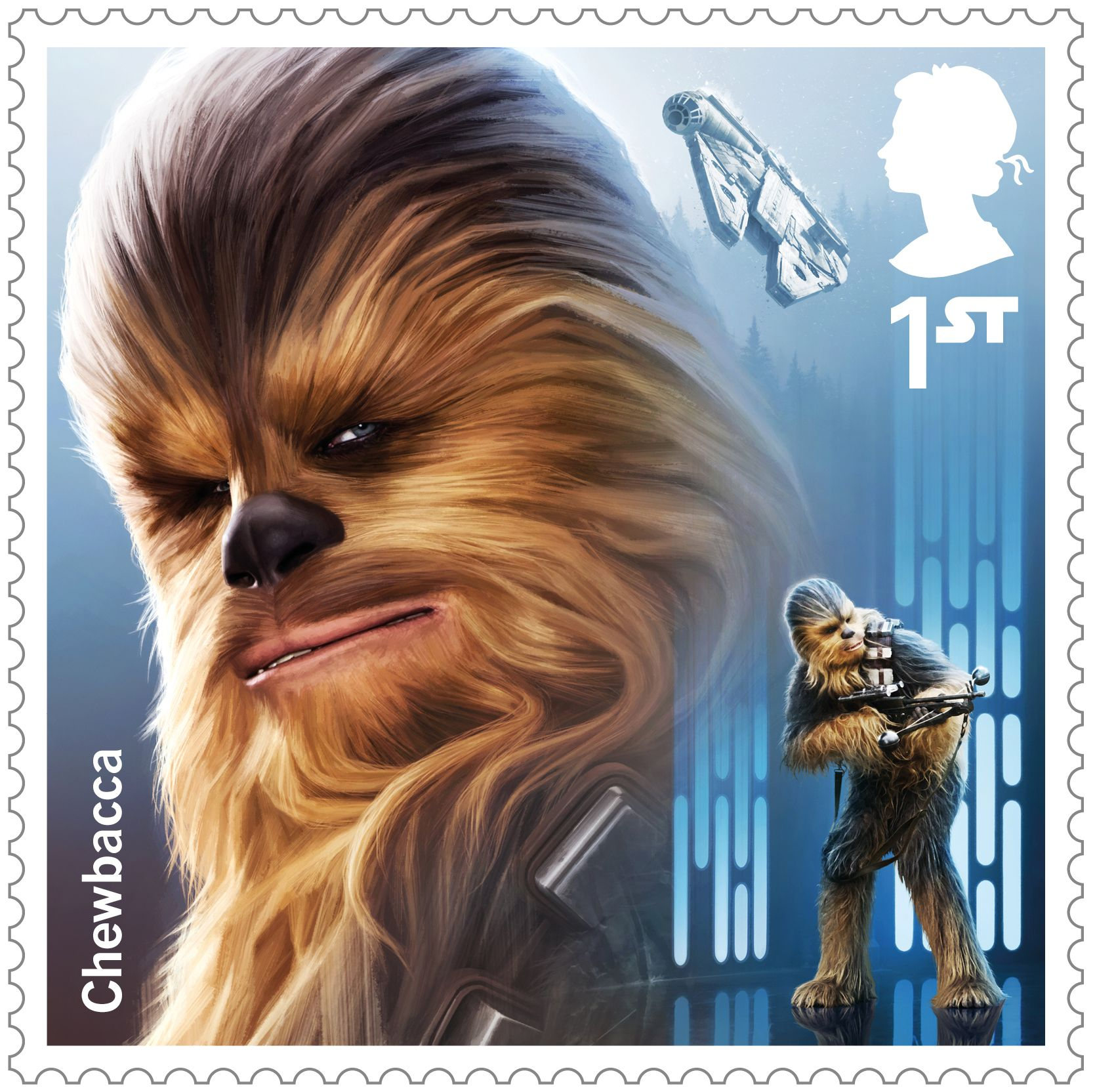 Star Wars Droids And Aliens 1st Stamp 2017 Chewbacca