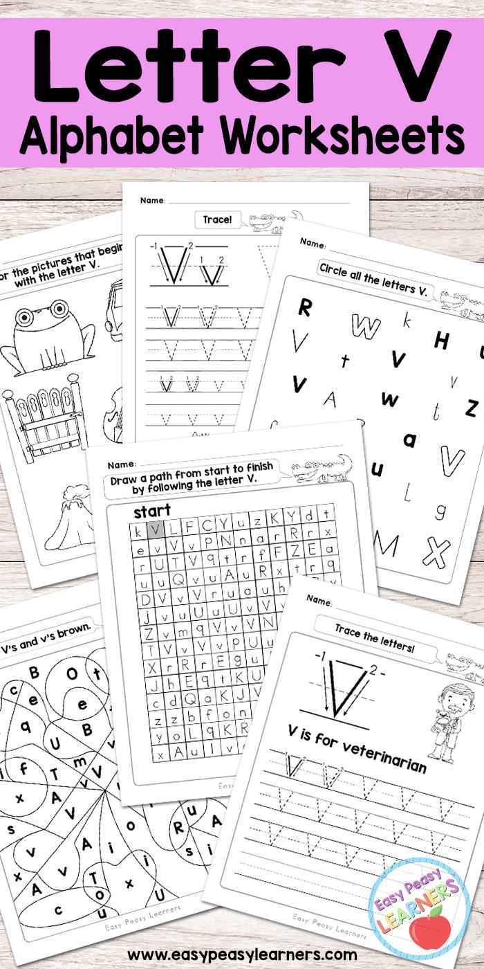 Free Printable Letter V Worksheets Alphabet Worksheets Series Letter V Worksheets Preschool Letters Letter V [ 1400 x 700 Pixel ]