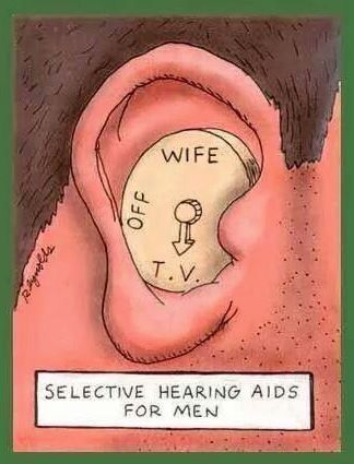 Selective hearing aids for men