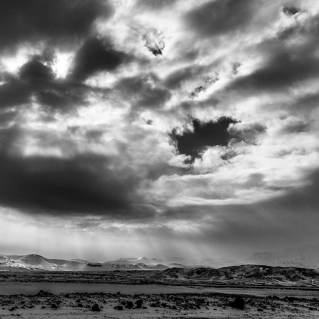 On instagram by philip2967 #landscape #contratahotel (o) http://ift.tt/1T8P26B  #dramaticsky #blackandwhite #canon6d just one of the amazing skies over the route through central Iceland