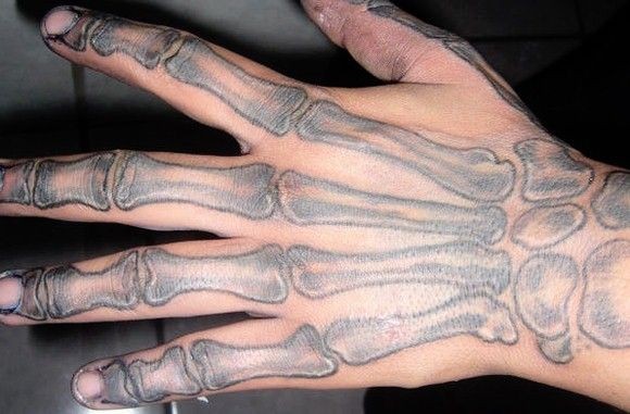 Basic Skeleton Hand Tattoo Skeleton Hand Tattoo Skeleton Tattoos Hand Tattoos
