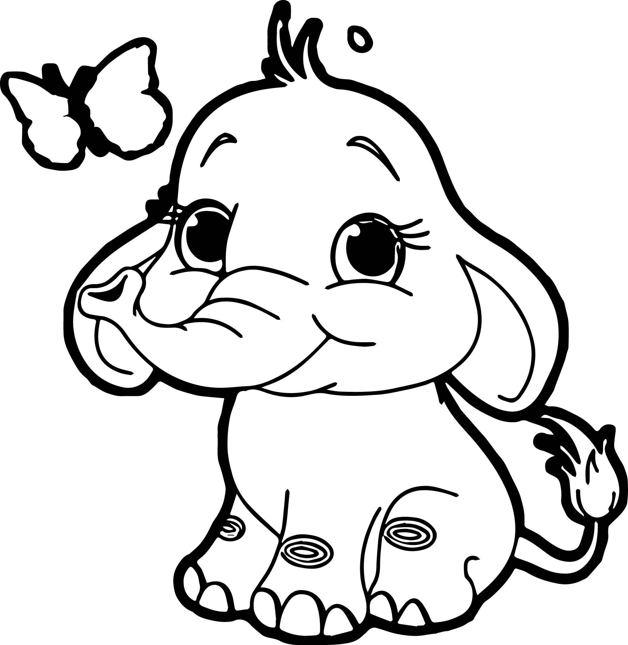 Nice Butterfly Elephant Coloring Page Elephant Coloring Page Elephant Drawing Elephant Colouring Pictures