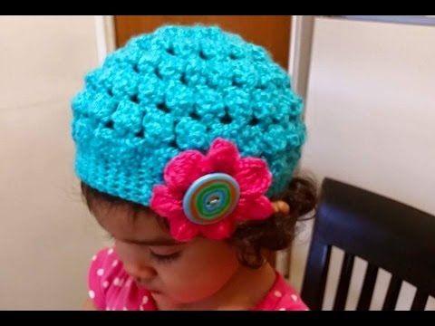 Gorro en crochet(ganchillo) para niña o mujer paso a paso - YouTube ... 01e07fbe25a