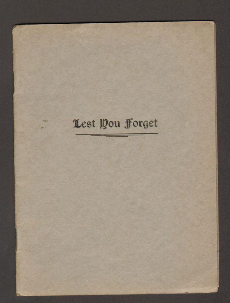 1930 pamphlet lest you spirit of seasons greetings