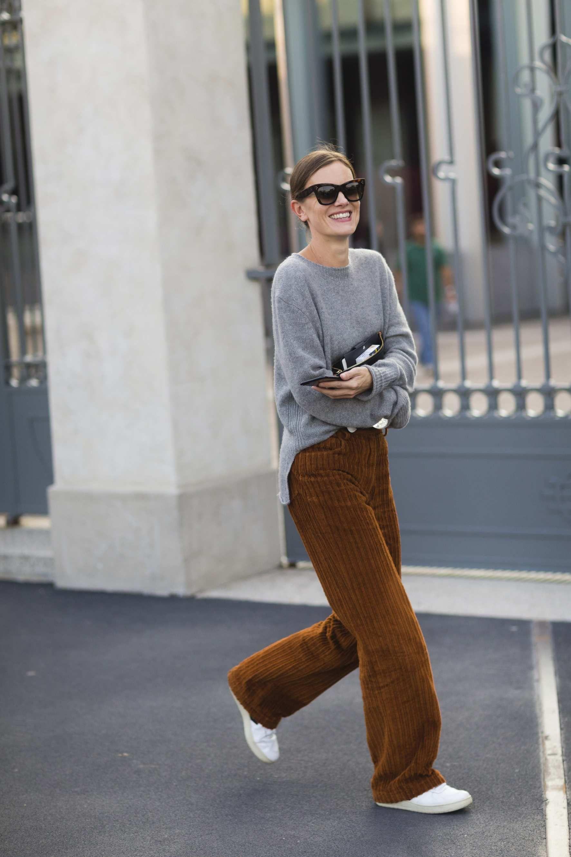 size 40 981f0 40663 Jo Ellison Beige Outfit, Winter Looks, Corduroy Pants, Knit Pants, Love  Fashion