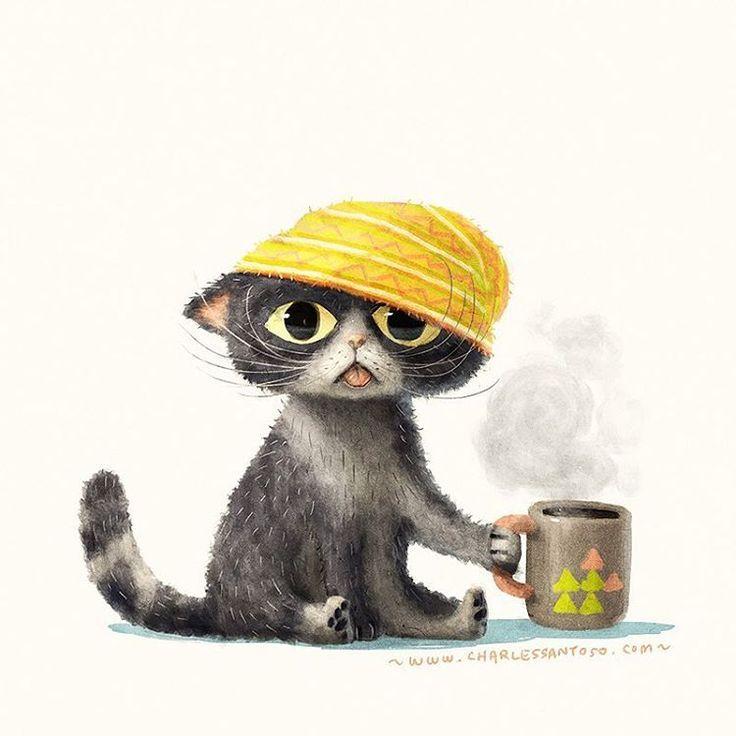 Coffee Cat | Charles Santoso ♥•♥•♥