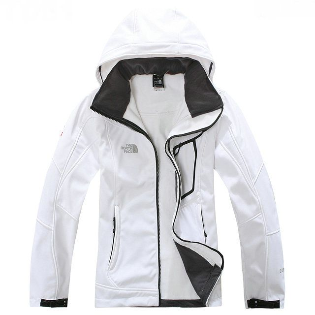 Cheap Women North Face Soft low Shell Jacket White For Christmas