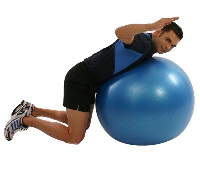 gymnastikball bung f r einen aufrechten r cken. Black Bedroom Furniture Sets. Home Design Ideas