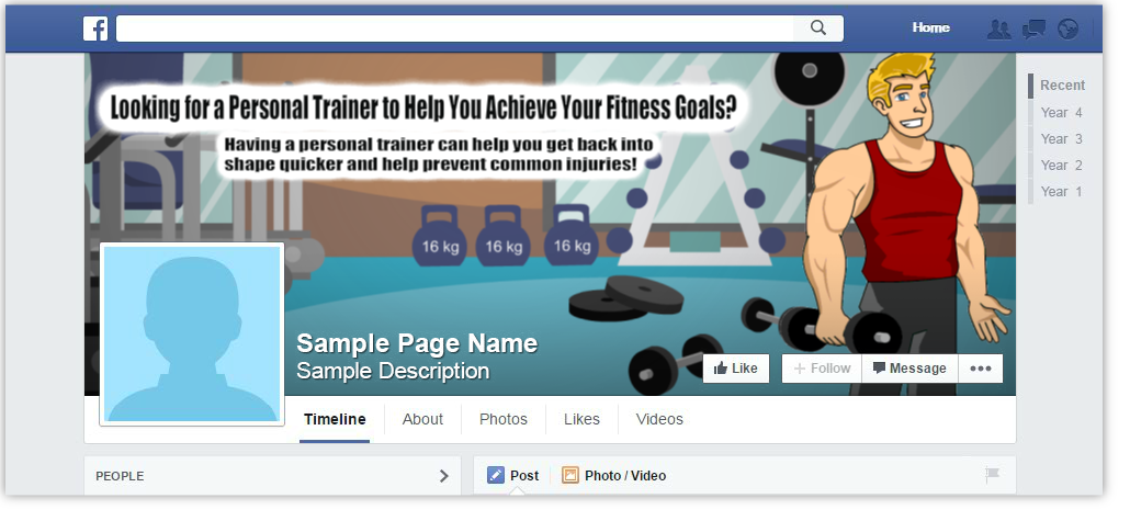 Personal Trainer Facebook Page Cover Design Browse Our Gallery
