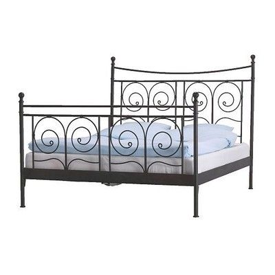 Ikea Noresund Black Metal Bedframe | New spaces ♡ | Pinterest ...