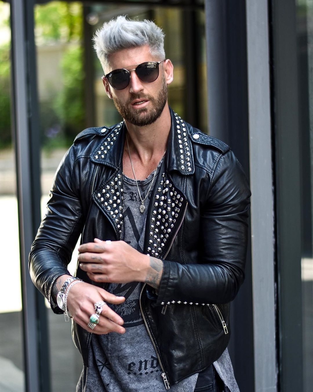 New Look Vbstyle Leather Jeans Men Leather Jacket Outfit Men Mens Fashion Blogger