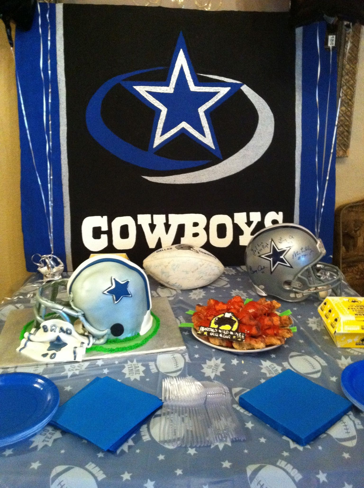 Dallas Cowboy foam party backdrop  3b006ca96