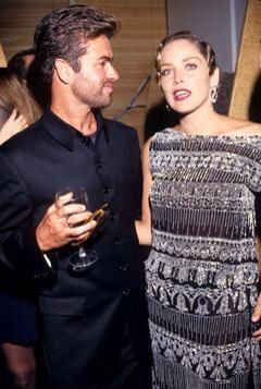 George with Sharon Stone
