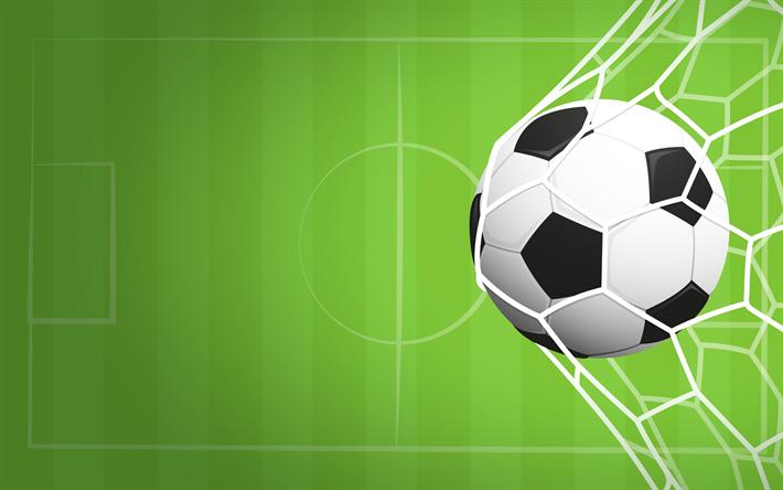 Fondos De Pantalla Fútbol Pelota Silueta Deporte: Descargar Fondos De Pantalla El Fútbol, El Gol, Pelota De