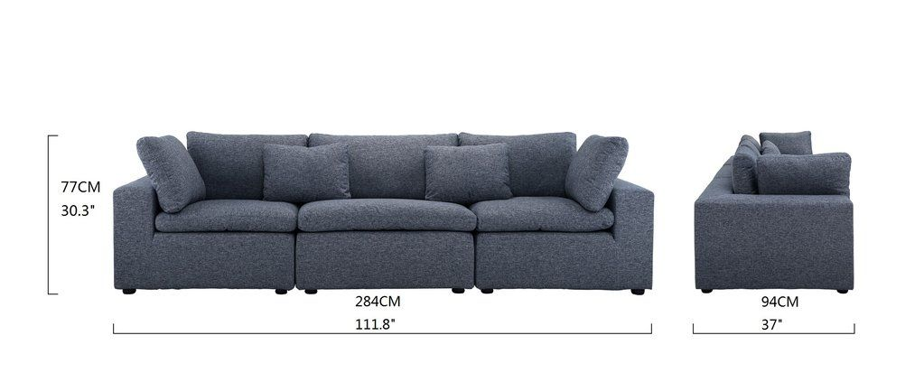 Alvina Contemporary Linen Lounge Sofa With Images Sofa Lounge Sofa Modern Couch